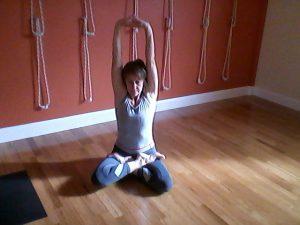 Fiona Rawson doing yogasana